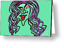 She Is Style Greeting Card