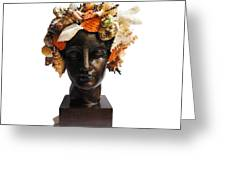 She Shell Bust Greeting Card by Denise H Cooperman