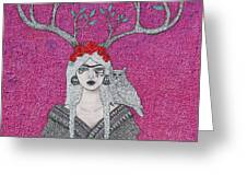 She Wears The Crown Greeting Card