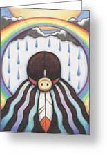 She Who Brings The Rain Greeting Card