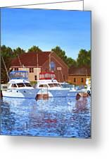 Sheboygan River Marina Greeting Card