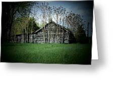 Shed And Trees Greeting Card by Michael L Kimble