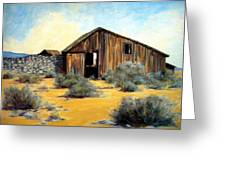 Shed And Wall Greeting Card by Evelyne Boynton Grierson