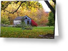 Shed In Autumn Greeting Card