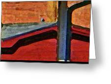 Sheds Abstract Greeting Card