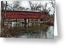 Sheeder - Hall Covered Bridge Greeting Card