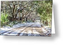 Sheep Farm - Snow Greeting Card