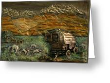 Sheep Herder's Wagon From Snowy Range Life Greeting Card