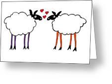 Sheep Love Greeting Card