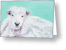 Sheep Painting - Jeremiah Greeting Card