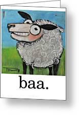 Sheep Poster Greeting Card