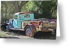 Sheepherders Truck Greeting Card