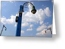 Sheepshead Street Lamps Greeting Card