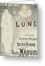 Sheet Music Aubade A La Lune Greeting Card
