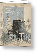 Sheet Music Scherzo Pour Piano Greeting Card