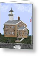 Sheffield Island Lighthouse Connecticut Greeting Card