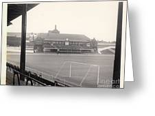 Sheffield United - Bramall Lane - Cricket Pavilion 1 - Bw - 1960s Greeting Card