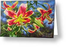 Sheherazade Lilies 1 Greeting Card
