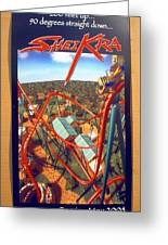 Sheikra Ride Poster 2 Greeting Card