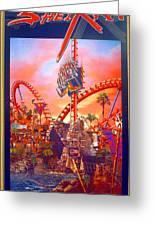 Sheikra Ride Poster 3 Greeting Card