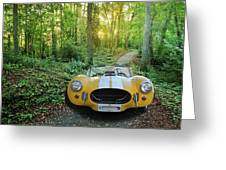 Shelby Ac Cobra In The Woods Greeting Card
