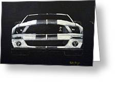Shelby Mustang Front Greeting Card