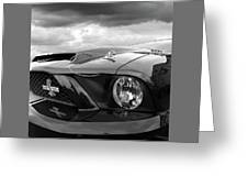 Shelby Super Snake Mustang Grille And Headlight Greeting Card
