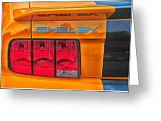 Shelby Tail Light Greeting Card