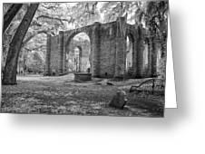Sheldon Church Ruins Greeting Card