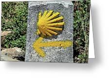 Shell And Arrow Marker, El Camino, Spain Greeting Card