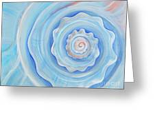 Shell Coral Blue Greeting Card