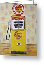 Shell Gas Pump Greeting Card