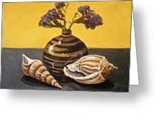 Shells And Stripes Greeting Card