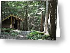 Shelter On Hemlock Trail Greeting Card