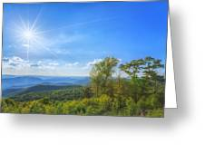 Shenandoah's The Point Overlook Greeting Card