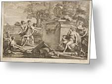 Shepherds In Arcadia Greeting Card