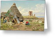 Shepherds Resting In The Roman Campagna Greeting Card