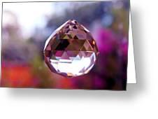 Sherbet Crystal Teardrop Greeting Card