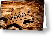 Sheriff Badge - Sepia Greeting Card