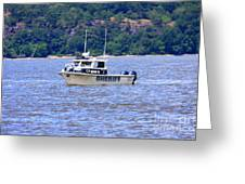 Sheriff Boat On The Hudson Greeting Card