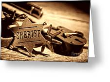 Sheriff Tools Greeting Card