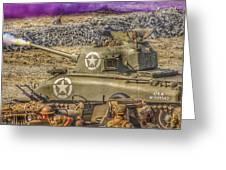 Sherman Attack Greeting Card