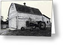 Sherry's Barn Greeting Card by Bryan Baumeister