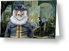 Shetland Sheepdog Art Canvas Print - The Painter And His Studio Greeting Card