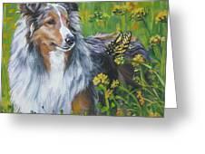 Shetland Sheepdog Wildflowers Greeting Card