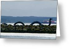 Shilshole Sea Serpent Greeting Card