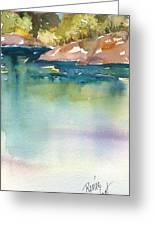 Shimmer Lake Greeting Card