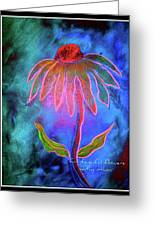 Shimmering Floral Greeting Card