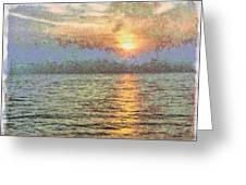 Shimmering Light Over The Water Greeting Card