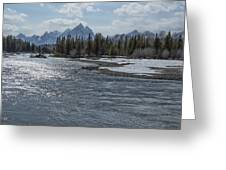Shimmering Snake River And The Tetons Greeting Card